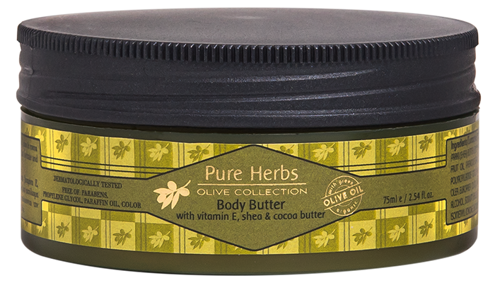 Body Butter<BR/>Pure Herbs Olive Collection<BR/>Miniatures 75ml